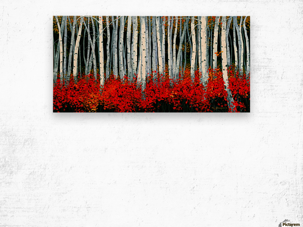 Autumn Aspens Wood print