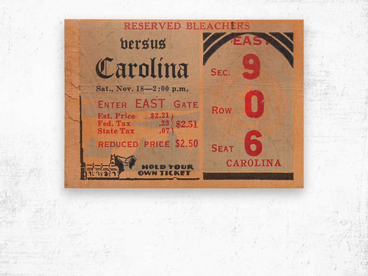 1939 North Carolina vs. Duke Wood print