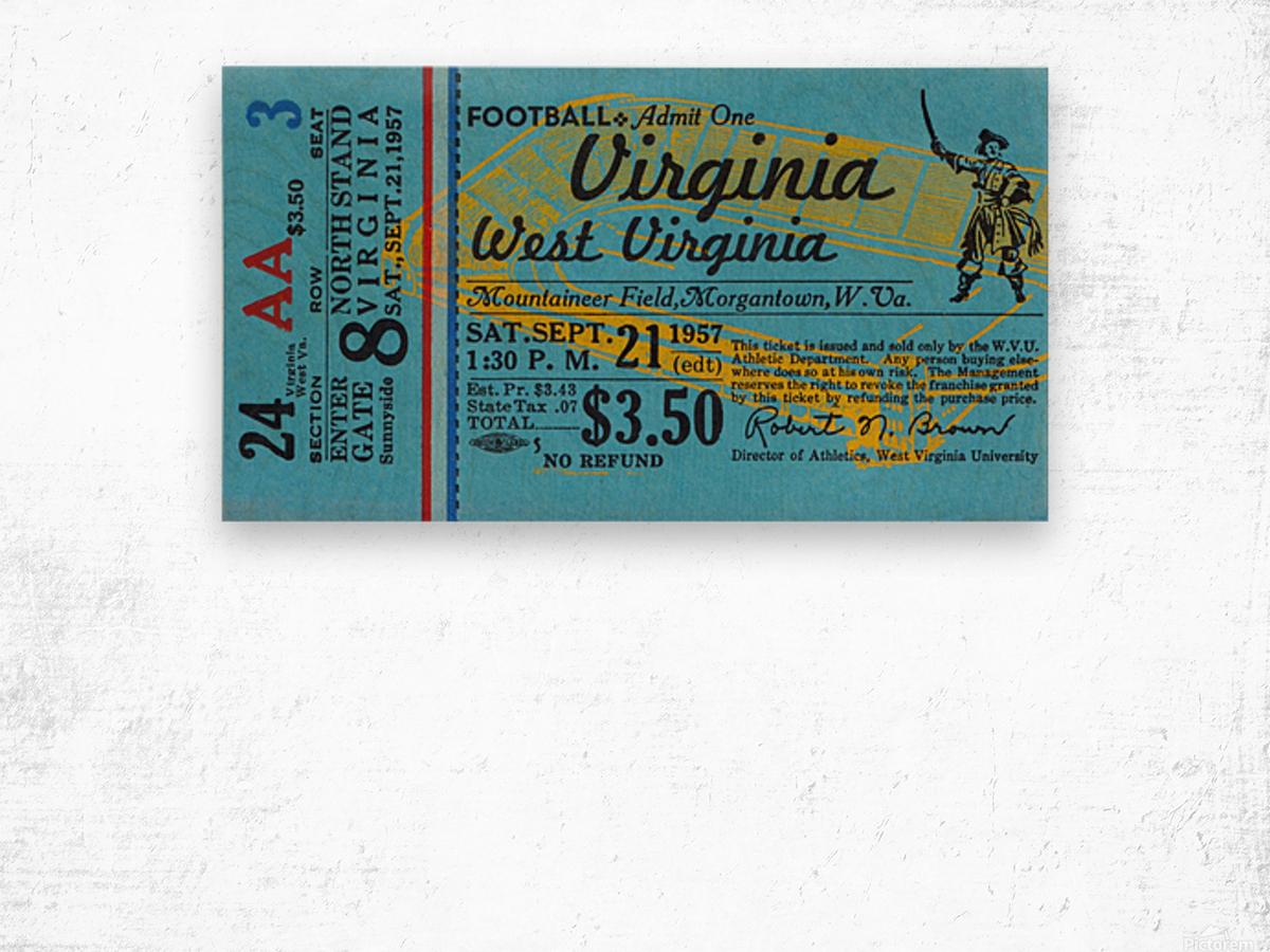 1957 Virginia vs. West Virginia Wood print