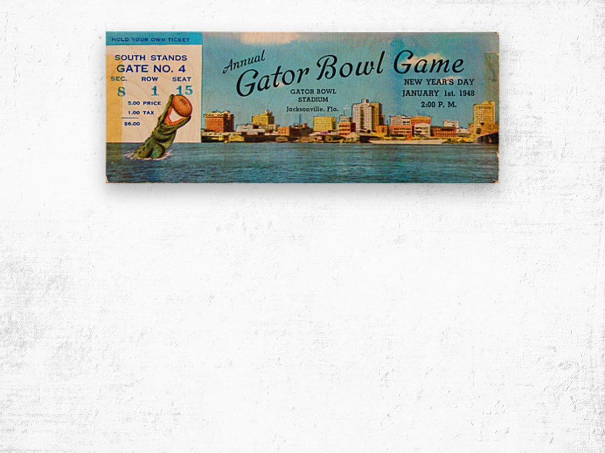1948 Gator Bowl Georgia vs. Maryland Wood print