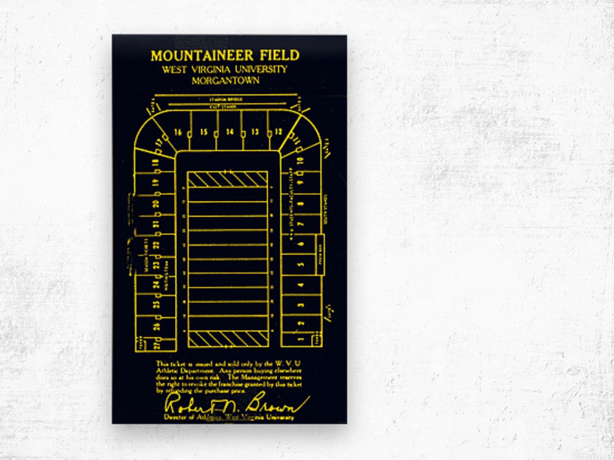 1967 Moutaineer Field Map Art Wood print