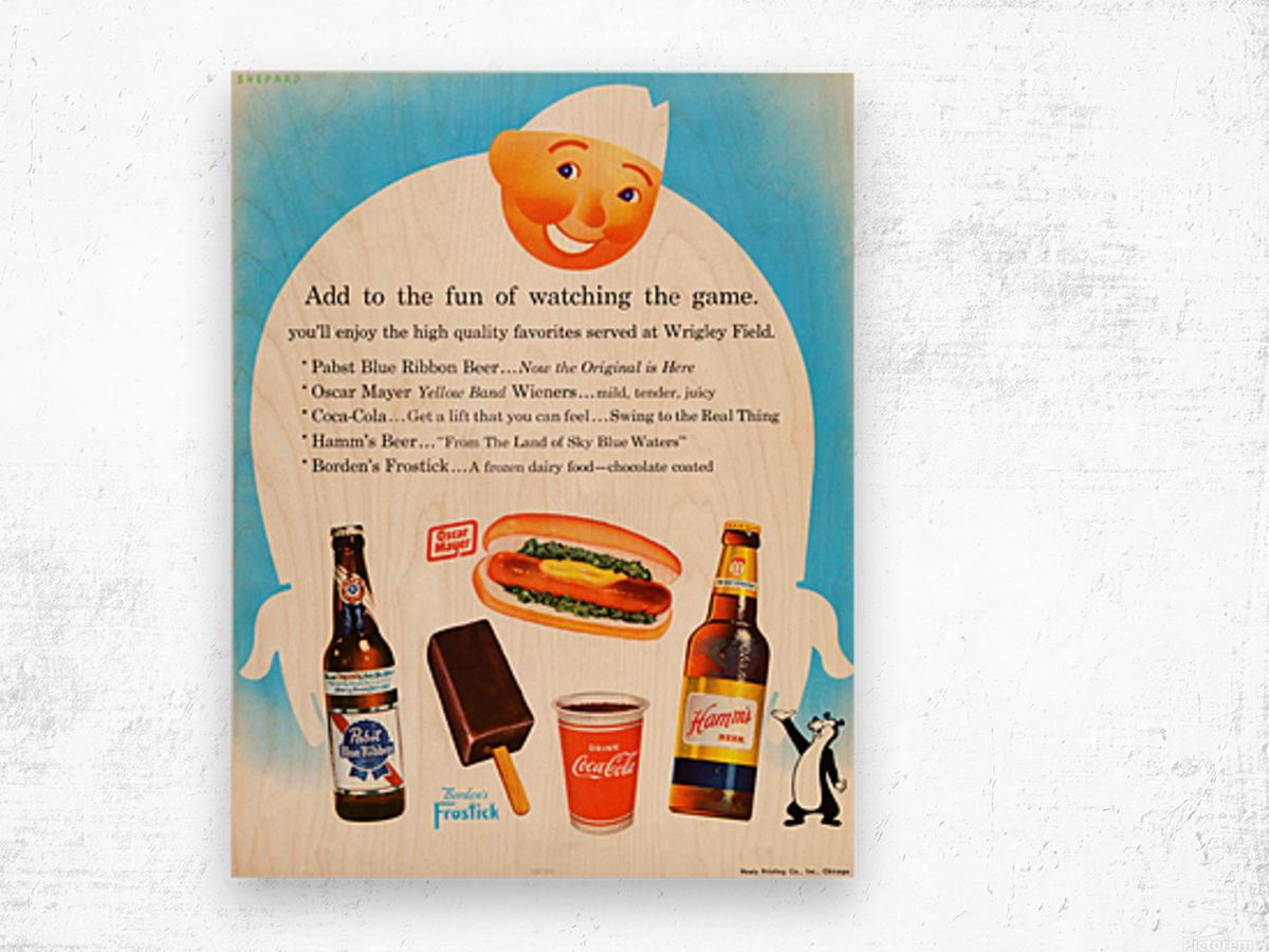 1962 Otis Shepard Concessions Ad Wood print