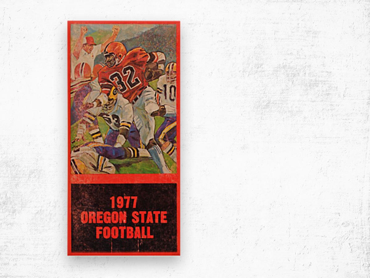 1977 Oregon State Football Art Wood print
