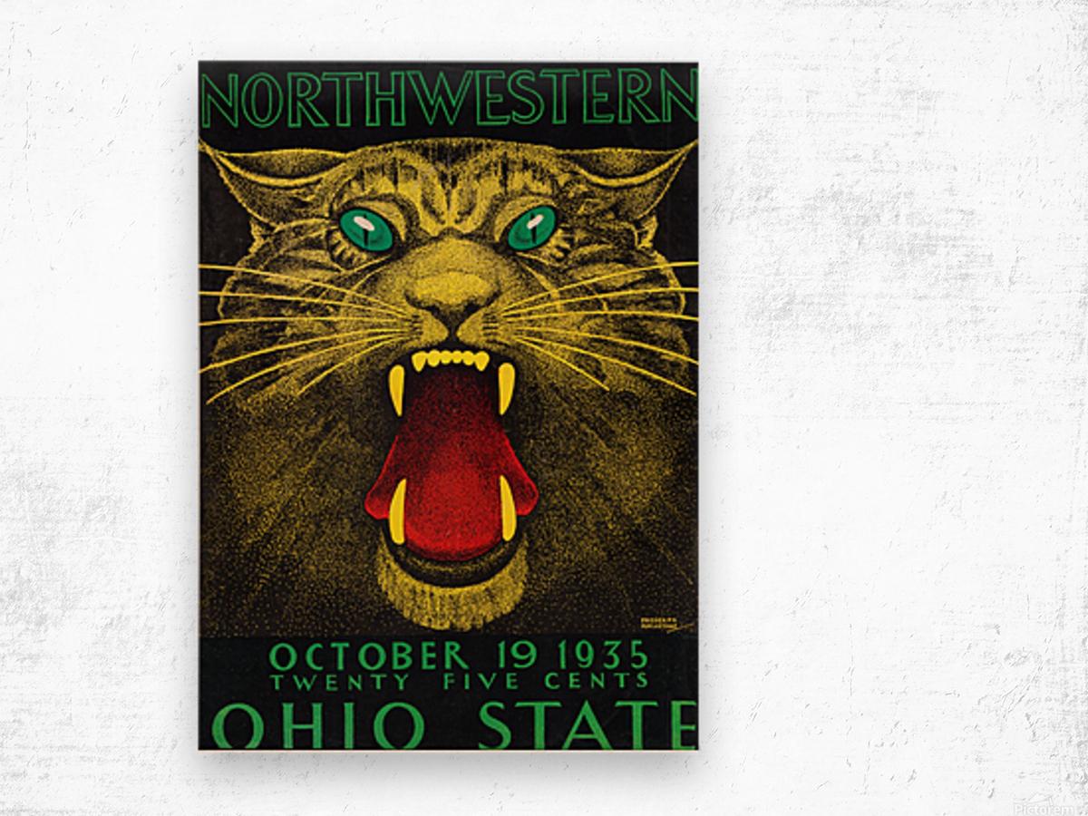 1935 Northwestern vs. Ohio State Wood print