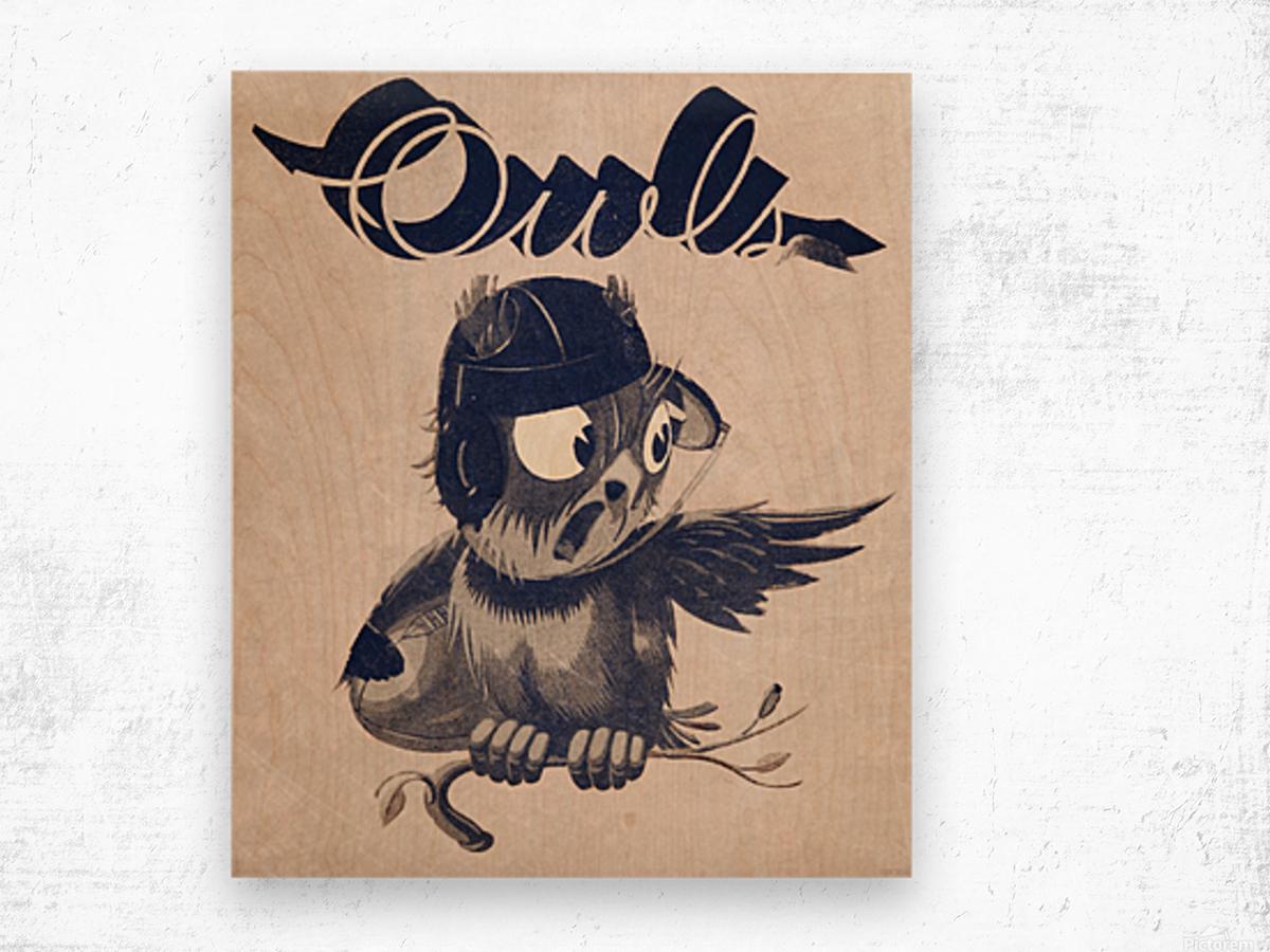 1933  Rice Owls Football Wood print