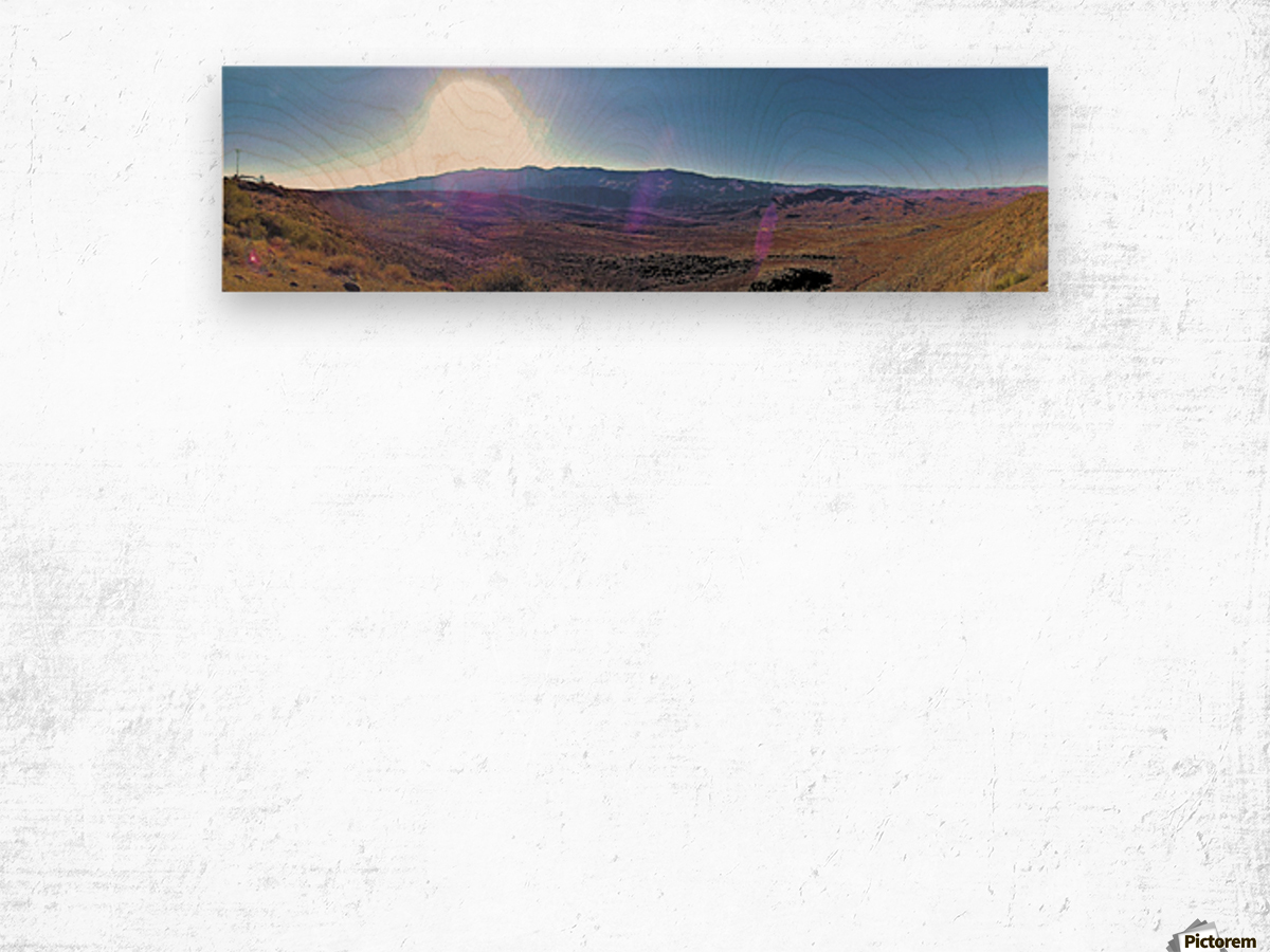 Sunset Point Sun Wood print