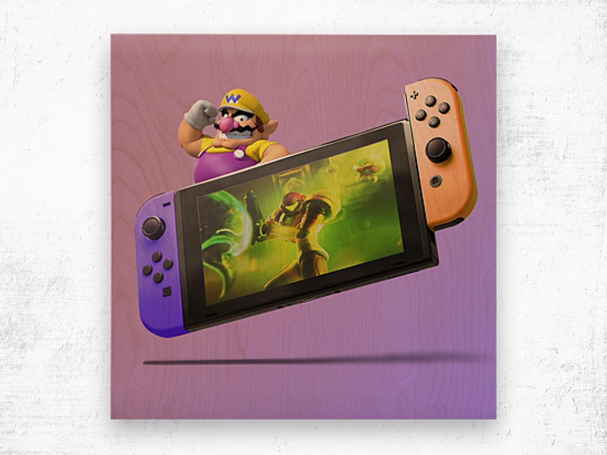 Nintendo Switch Wario Wood print