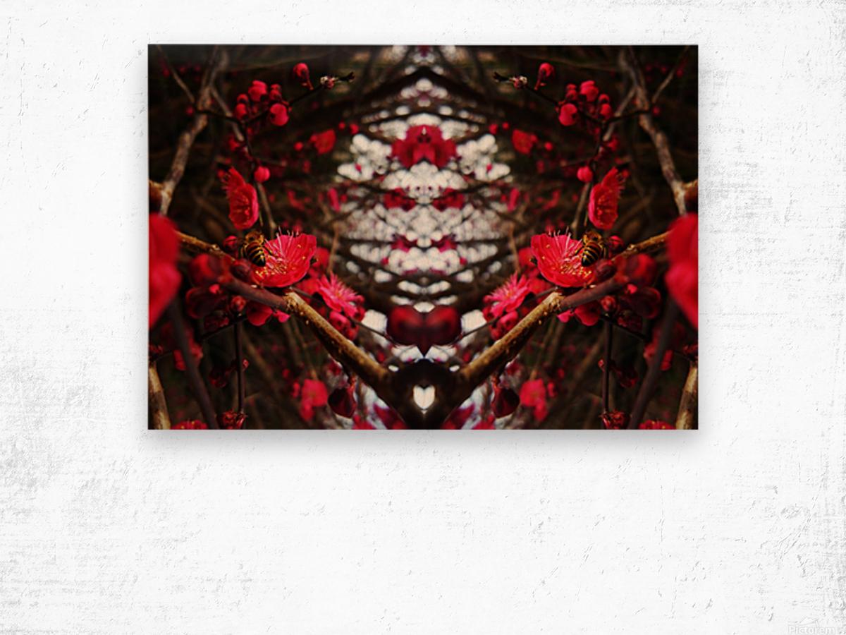 flower83 Wood print