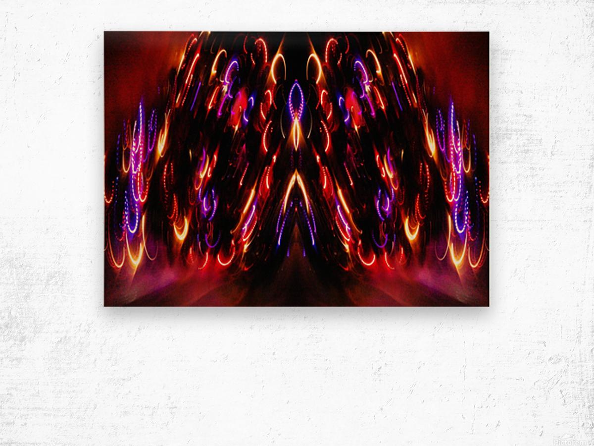 Lights15 Wood print