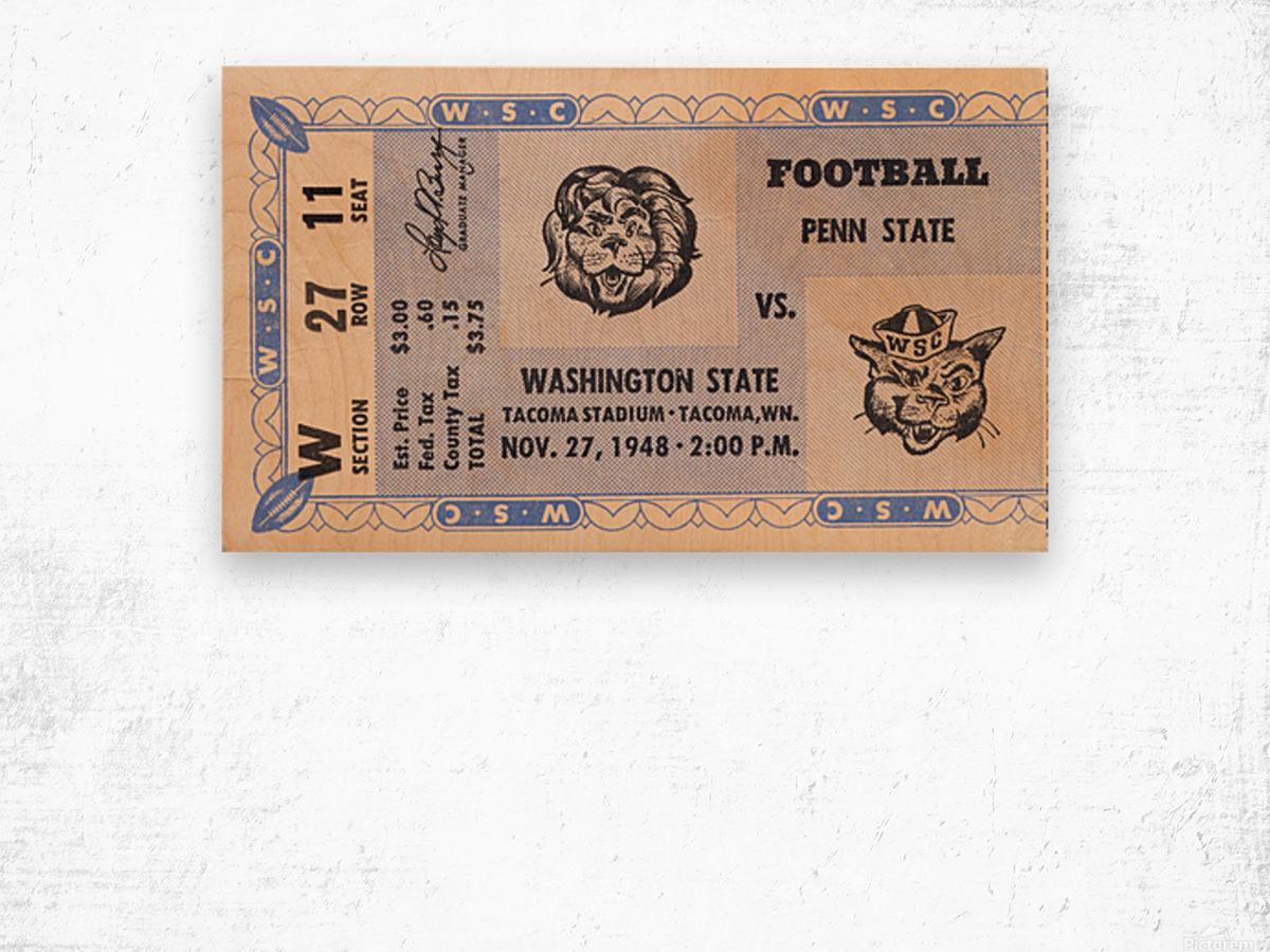 1948 Washington State vs. Penn State Wood print
