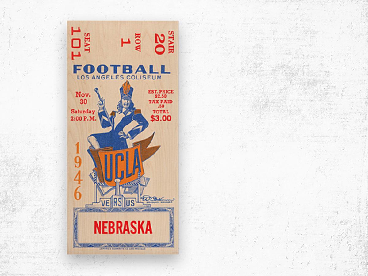1946 UCLA vs. Nebraska Wood print