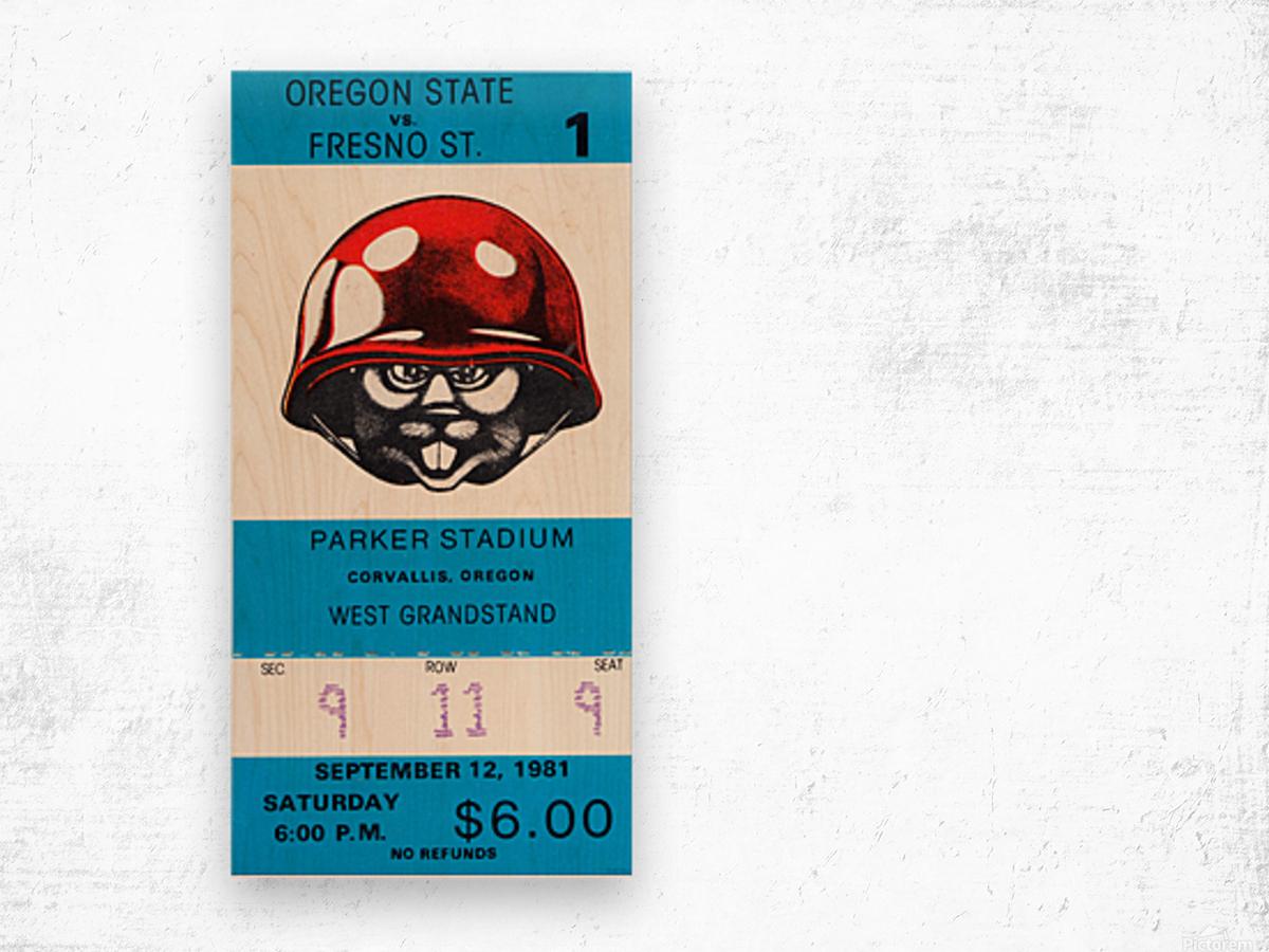 1981 Oregon State vs. Fresno State Wood print
