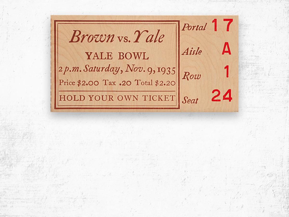 1935 Brown vs. Yale Wood print
