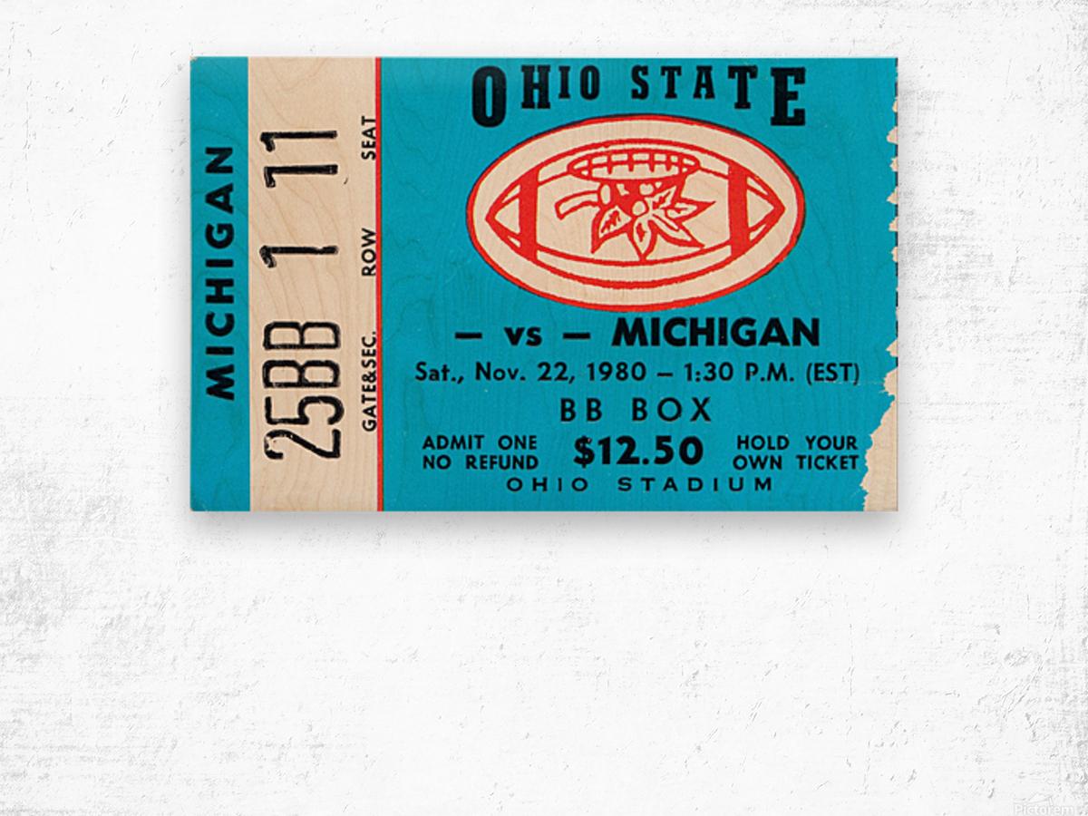 1980 Ohio State vs. Michigan Wood print