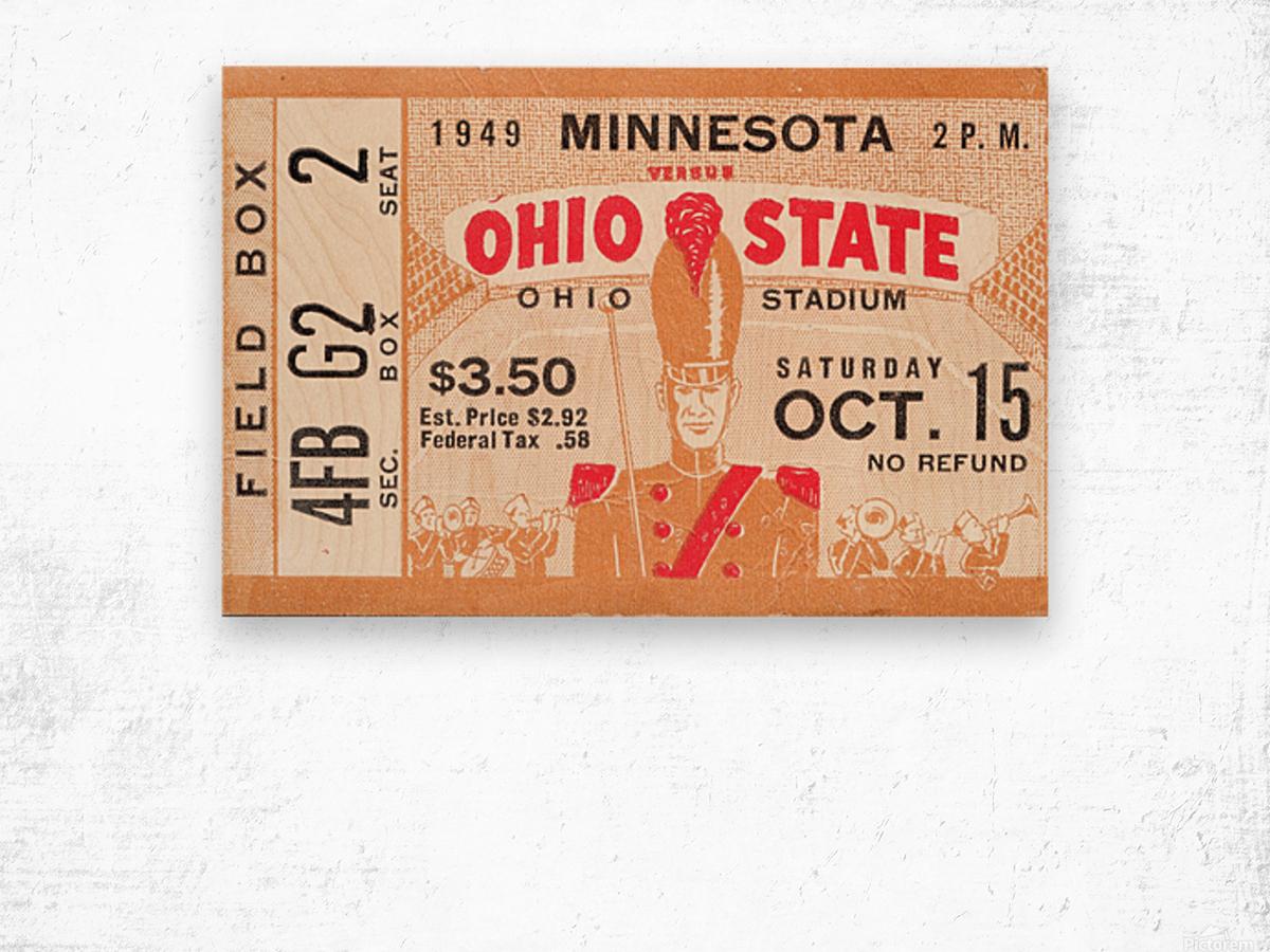 1949 Ohio State vs. Minnesota Wood print