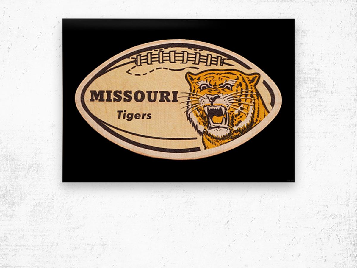 1965 Missouri Tiger Football Art Wood print