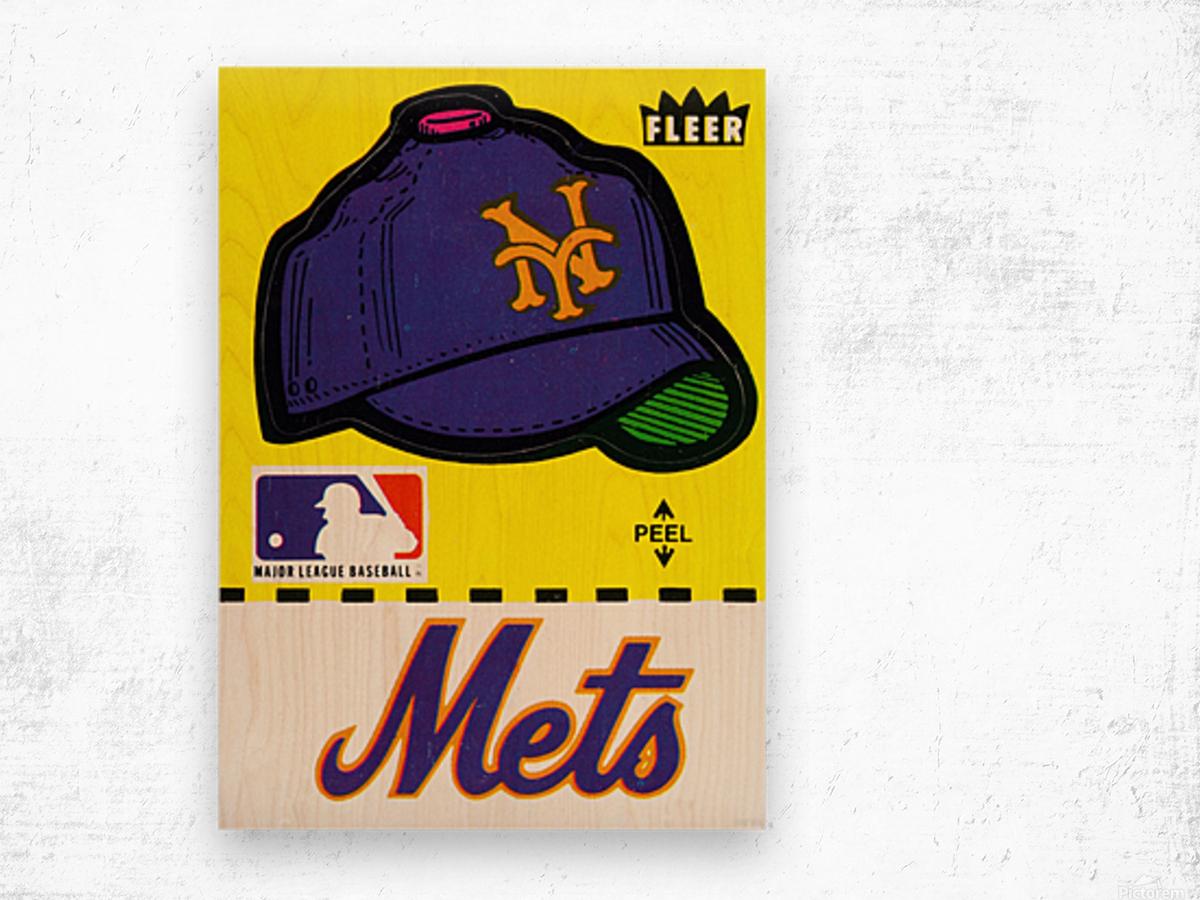 1981 New York Mets Fleer Decal Art Wood print