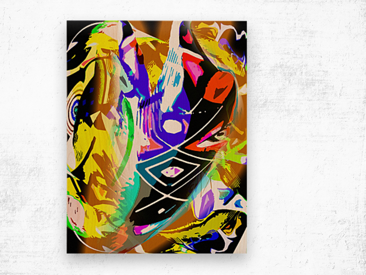 D M T Wood print