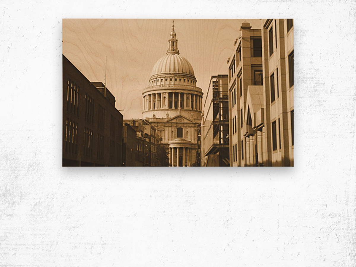 London - St  Pauls Cathedral Wood print