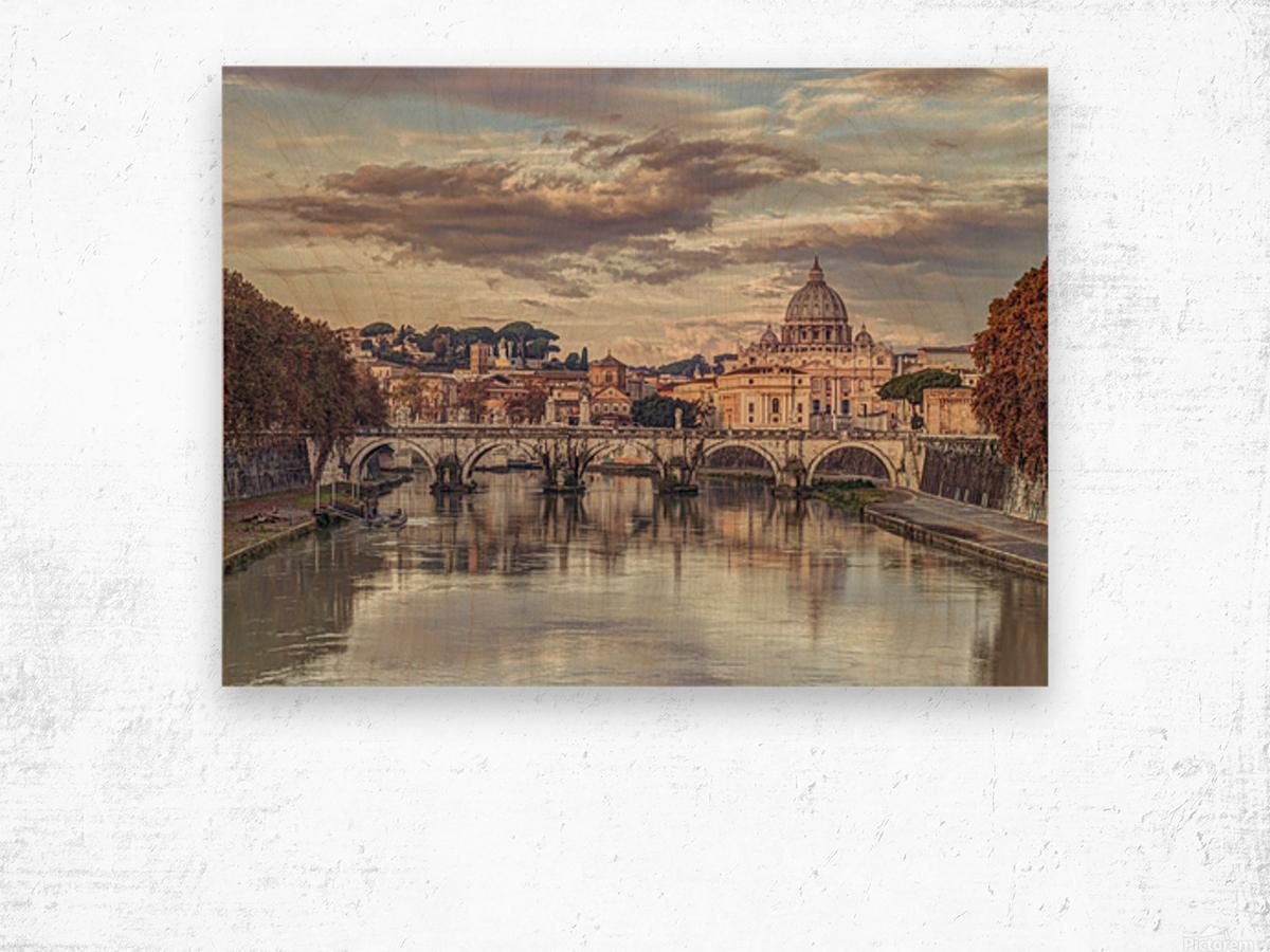 View of Basilica di San Pietro in Vatican, Rome, Italy Wood print