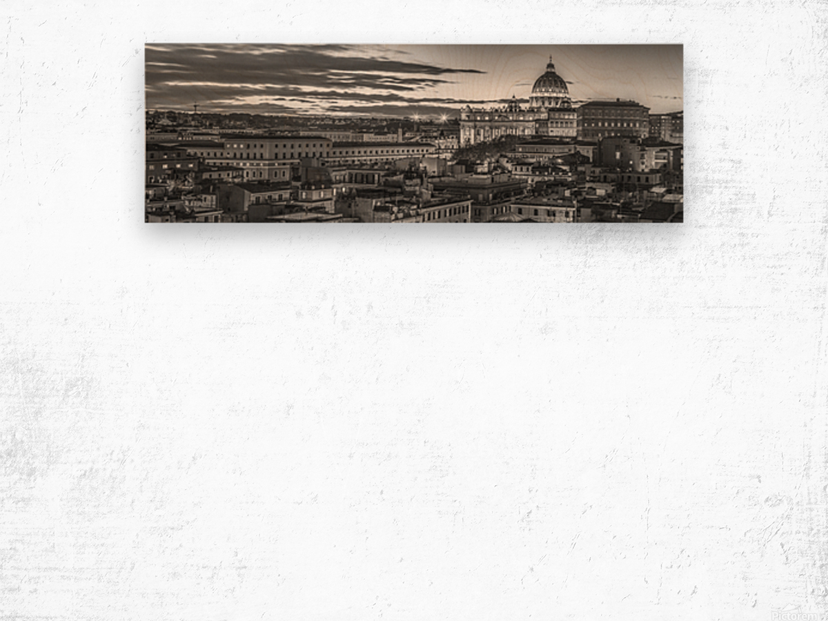Vatican city with St. Peters Basilica, Rome, Italy Wood print