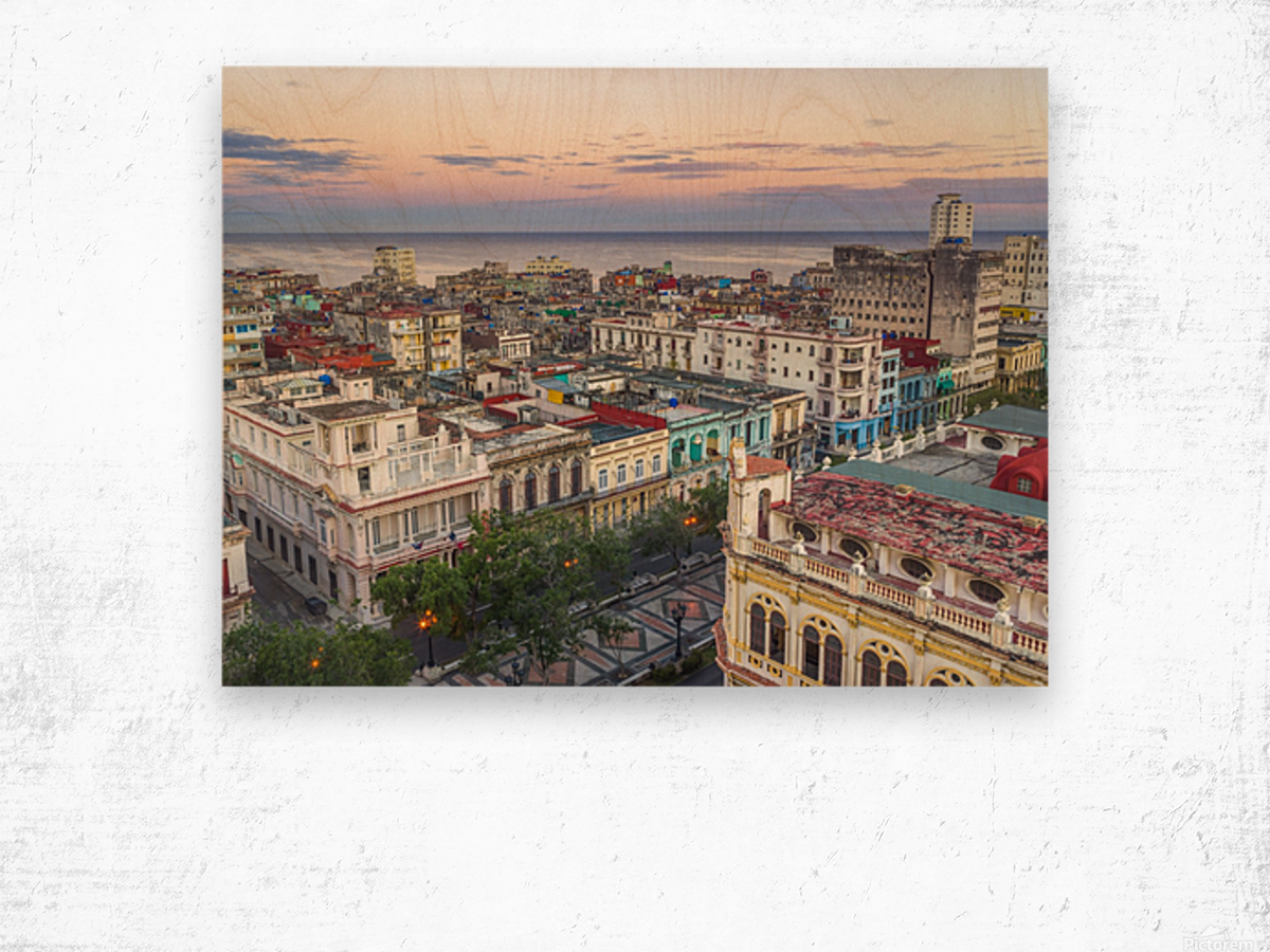 Havana from above Wood print
