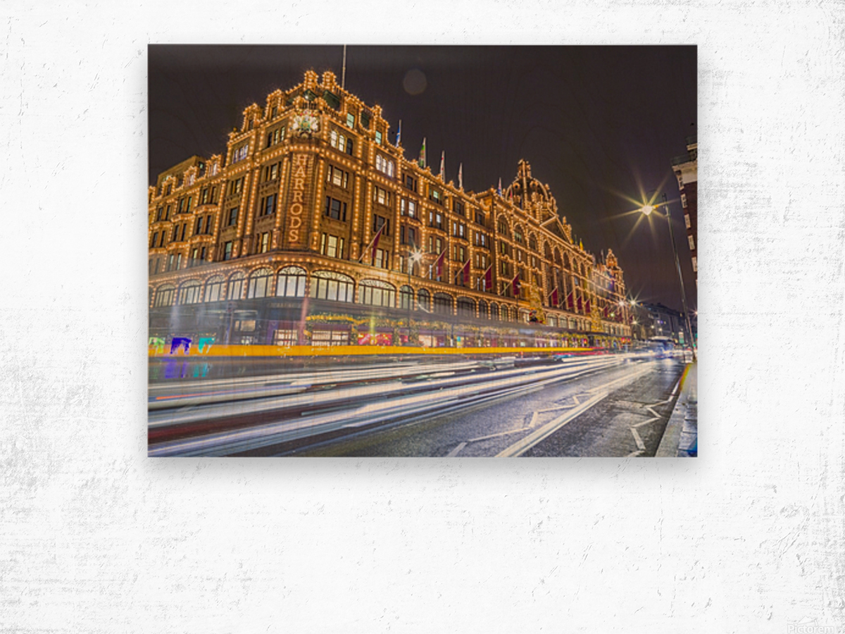 Harrods, London Wood print