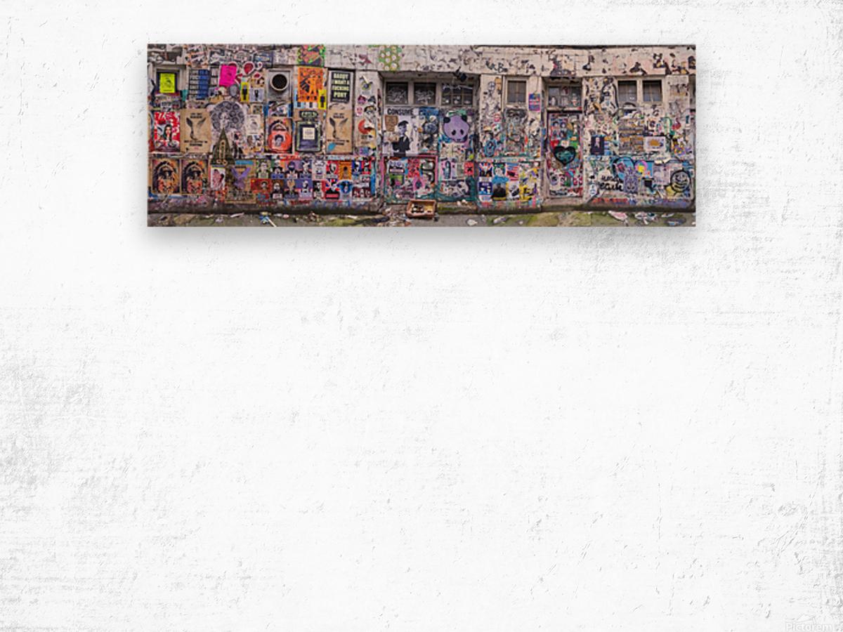 Graffiti, Brick Lane, London Wood print