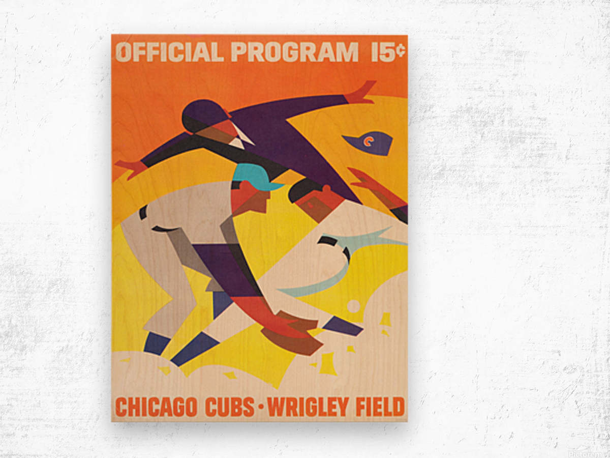 1967 Chicago Cubs Program Wood print