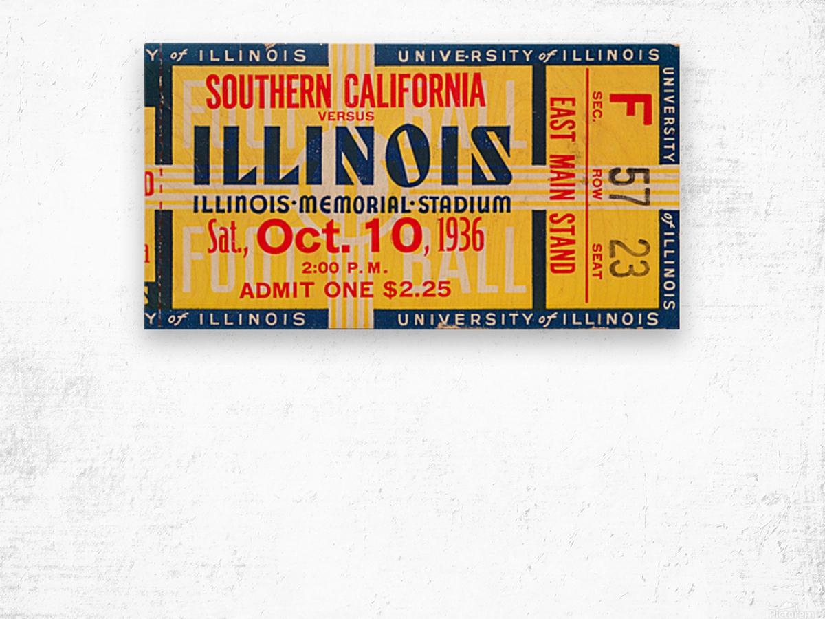 1936 USC vs. Illinois Wood print