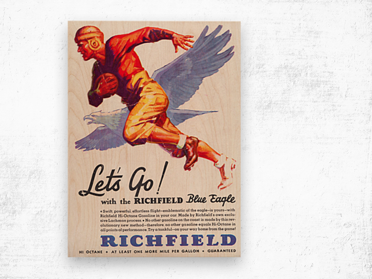 1933 Richfield Gasoline Ad Wood print