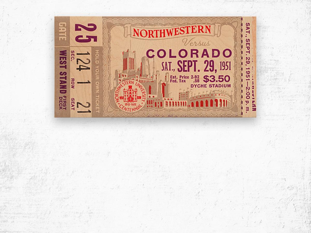 1951 Northwestern vs. Colorado Wood print