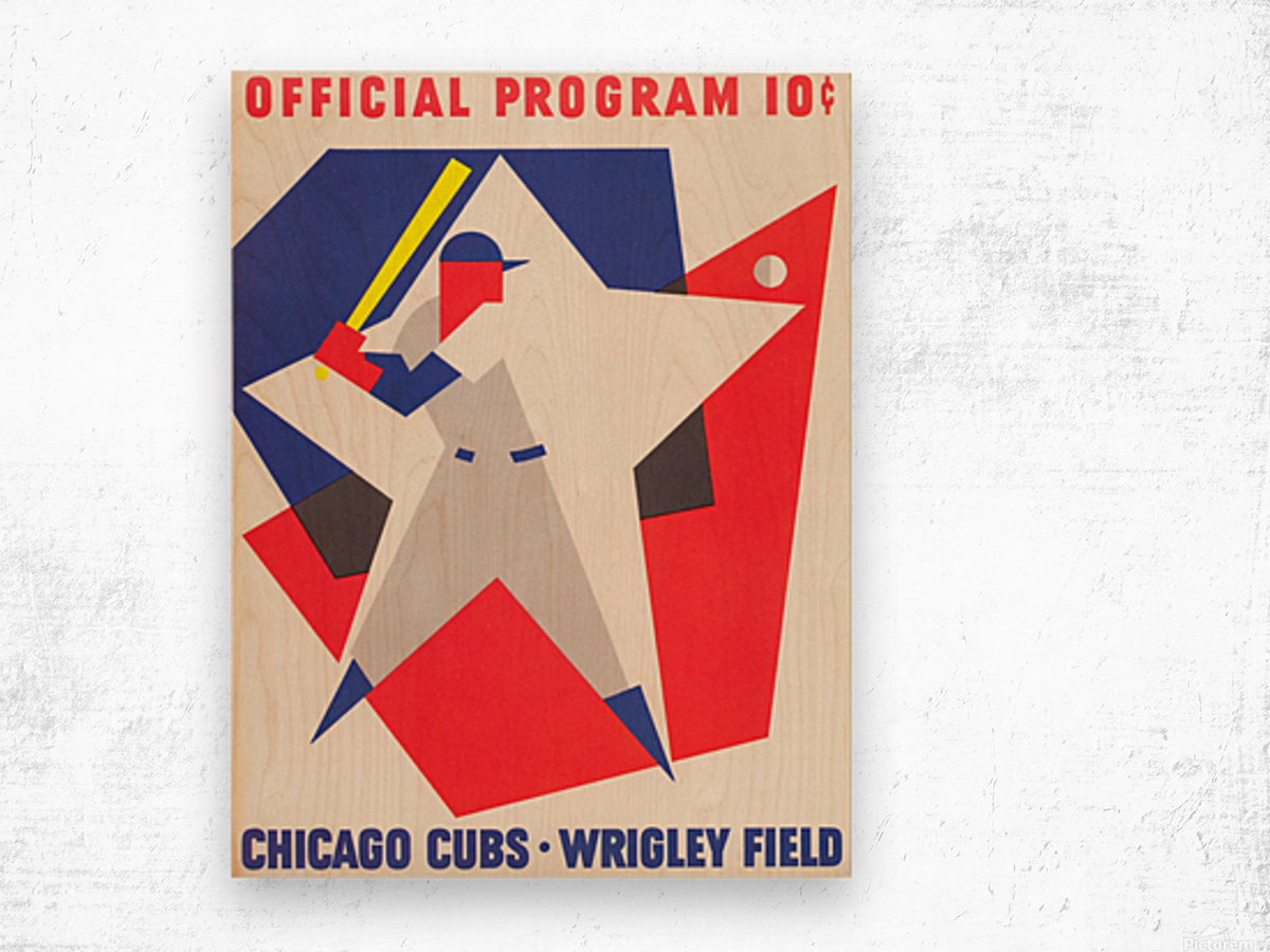 1964 Chicago Cubs Scorecard Wall Art Wood print