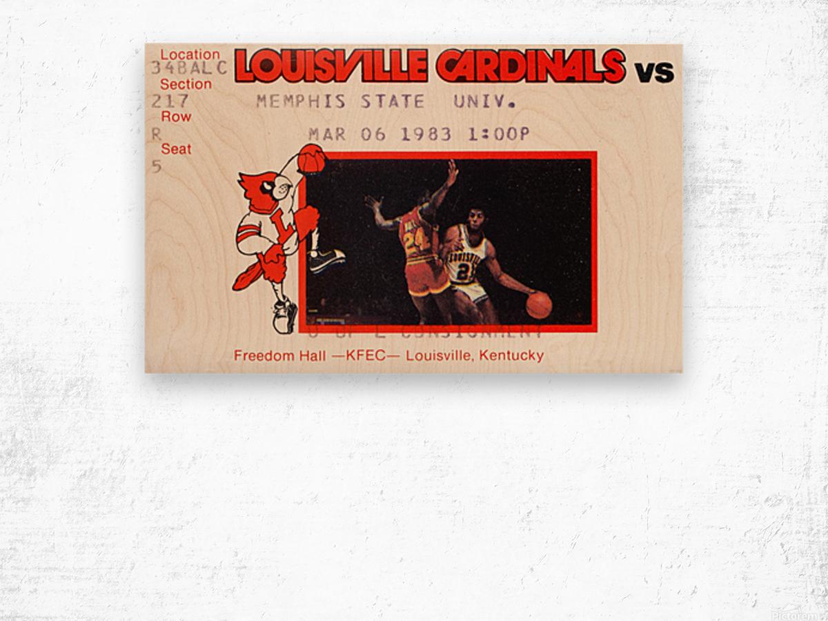 1983 Memphis State vs. Louisville Wood print