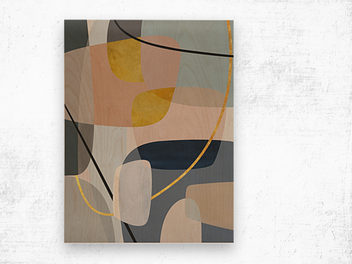 Abstract Composition 1147 Wood print