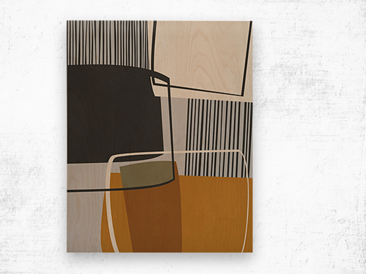 Abstract Composition 1146 Wood print