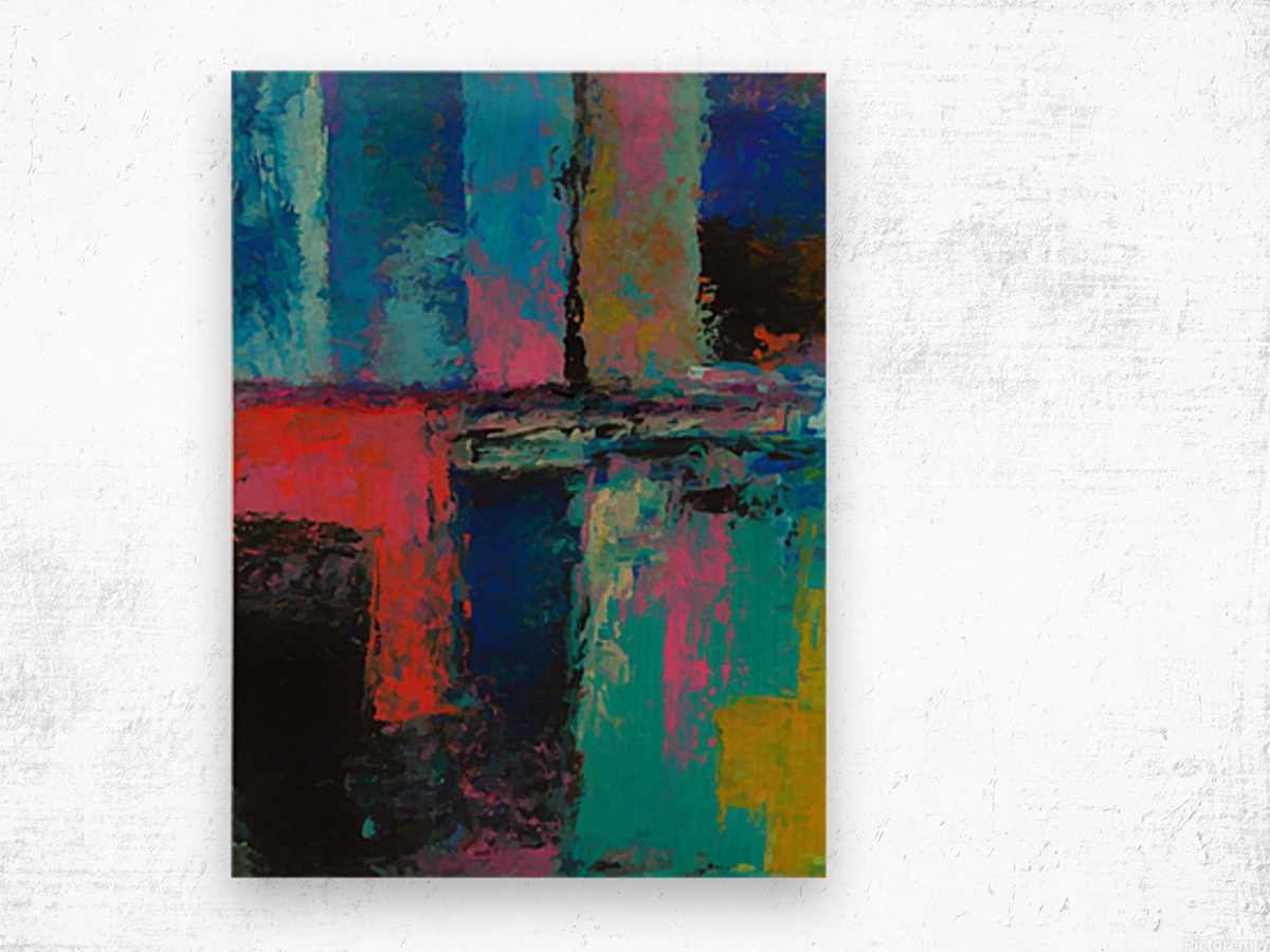 Abstract Composition 1141 Wood print