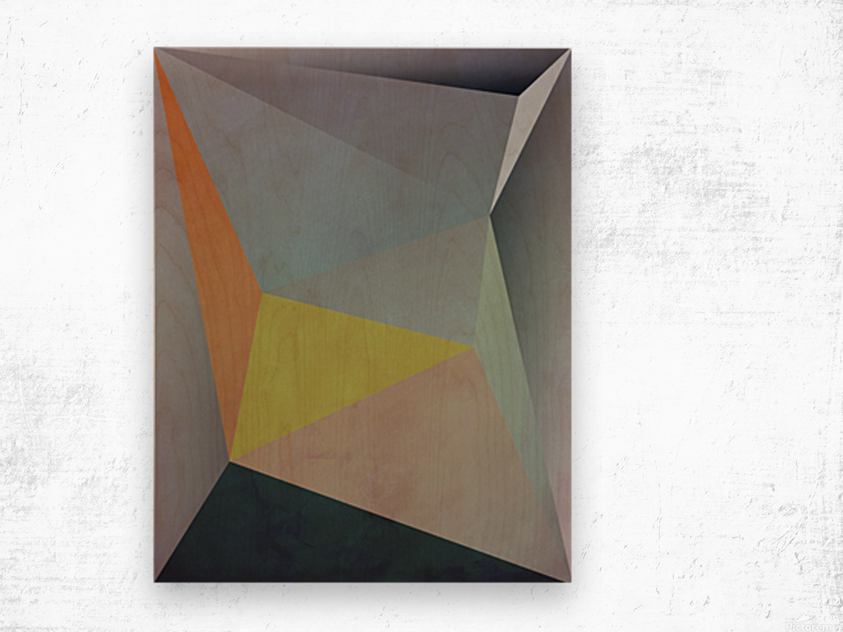 Abstract Composition 1137 Wood print