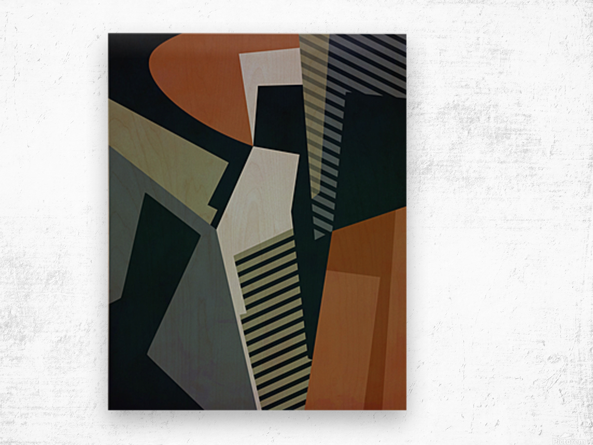 Abstract Composition 1132 Wood print
