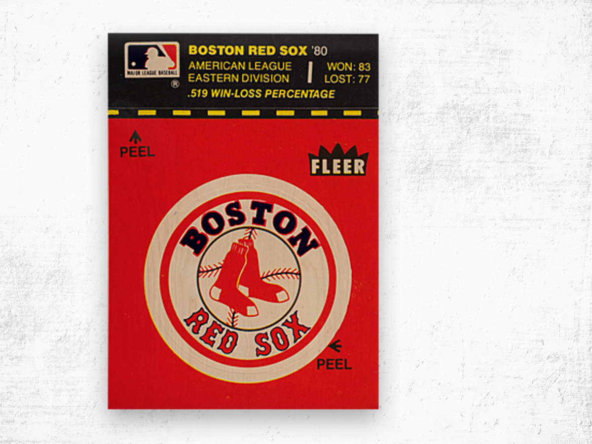 1981 Boston Red Sox Fleer Decal Art Wood print
