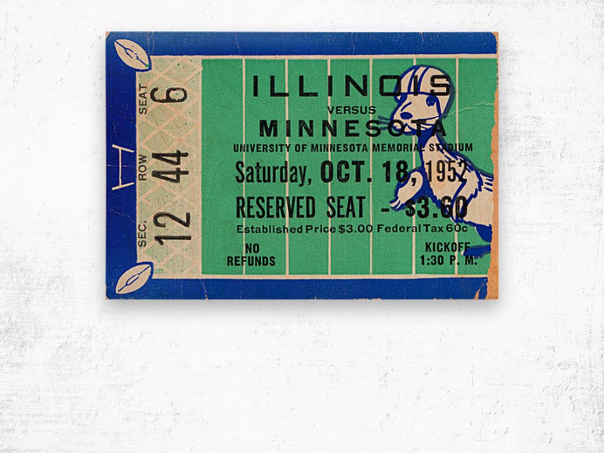 1952 Minnesota vs. Illinois Wood print