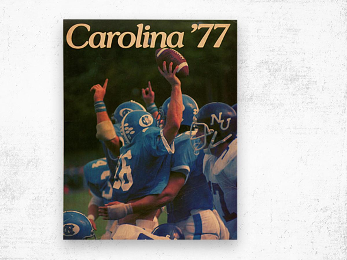 1977 Carolina Football Wood print