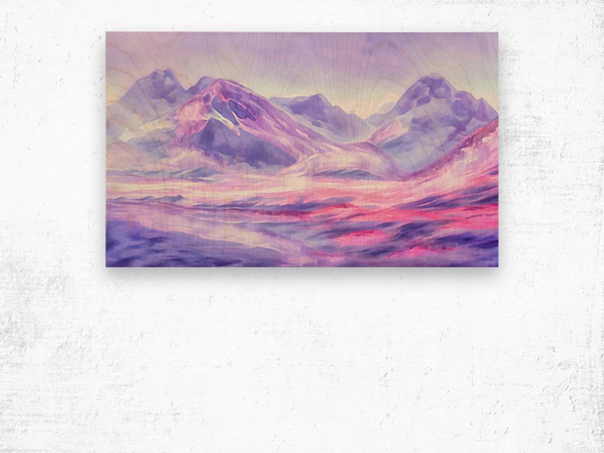 Mount Fairweather Canada Wood print