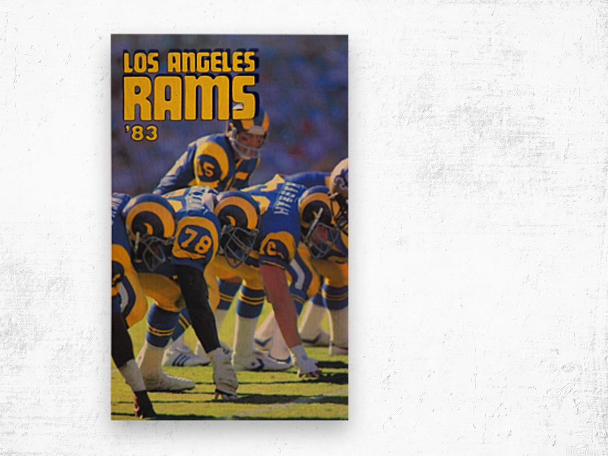 1983 Los Angeles Rams Wood print