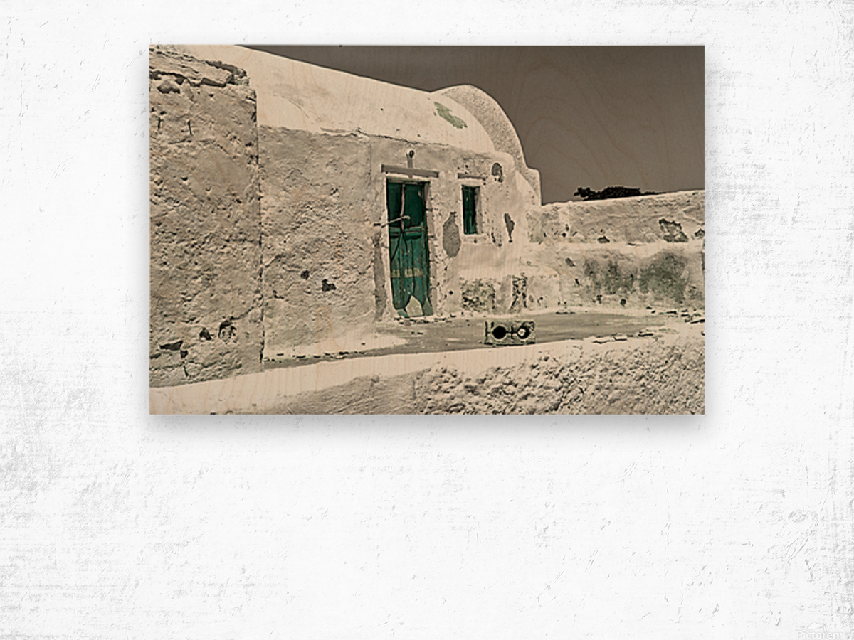 The green door Impression sur bois