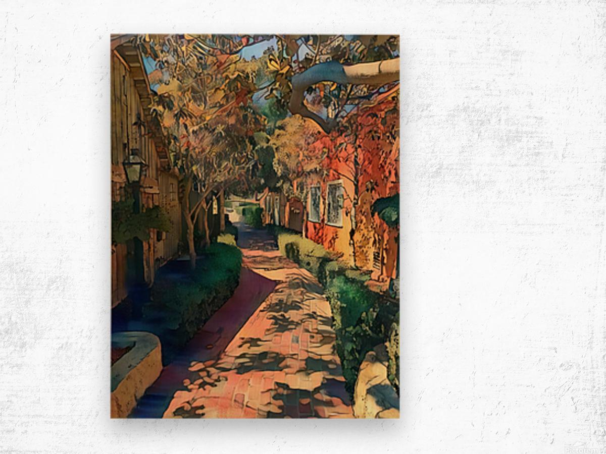 Hokusai alley Wood print