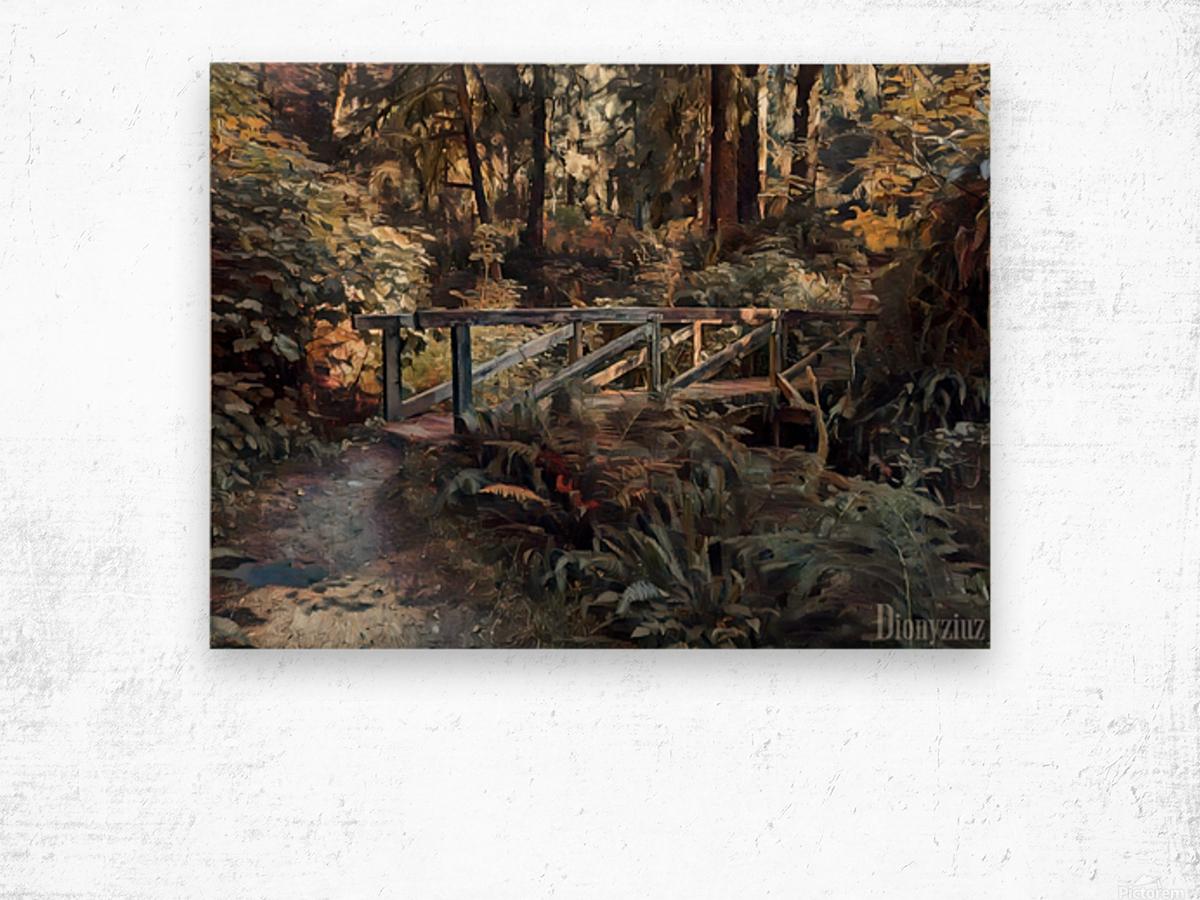 Redwood forrest Wood print