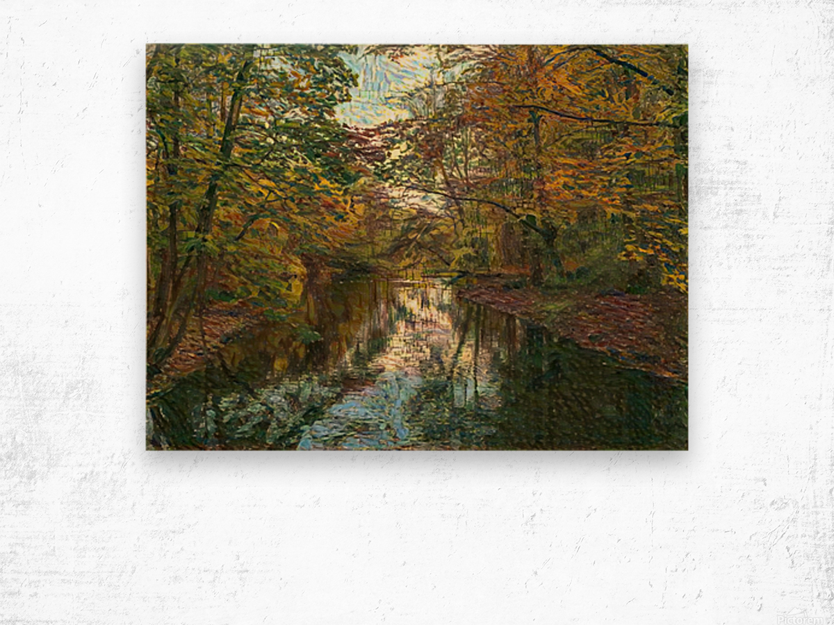 Autumn forrest Wood print