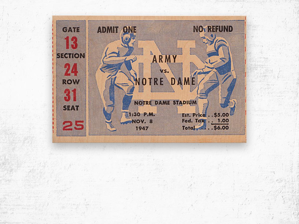 Black Friday Deals 1947 Notre Dame vs. Army Wood print