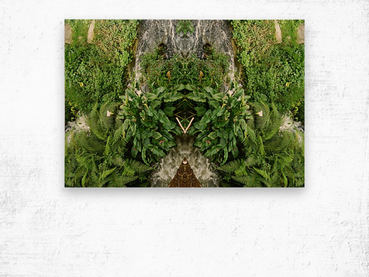 green4 Wood print